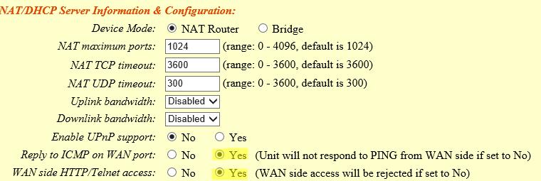 ht503 wan access