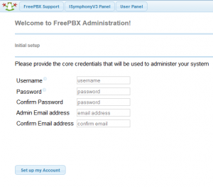 freepbx first logon