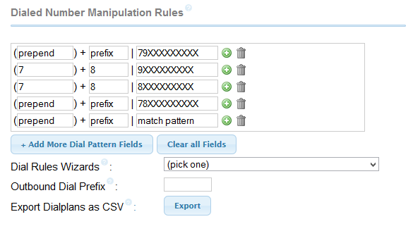 Dialed Number Manipulation Rules trunk asterisk
