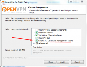 openvpn install components