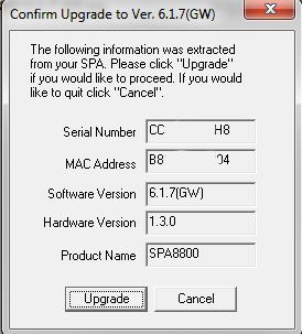 spa8800 firmware upgrade