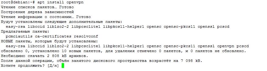 apt install openvpn
