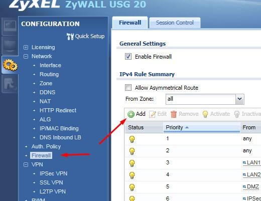 zyxel usg firewall